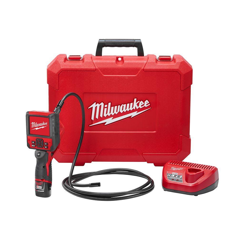 M12 12-Volt Lithium-Ion Cordless M-SPECTOR FLEX 9 ft. Inspection Camera Cable Kit W/(1) 1.5Ah Battery & Hard Case