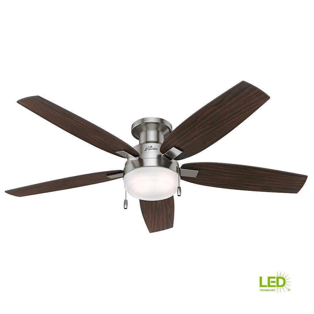 Hunter Duncan 52 in. LED Indoor Brushed Nickel Ceiling Fan