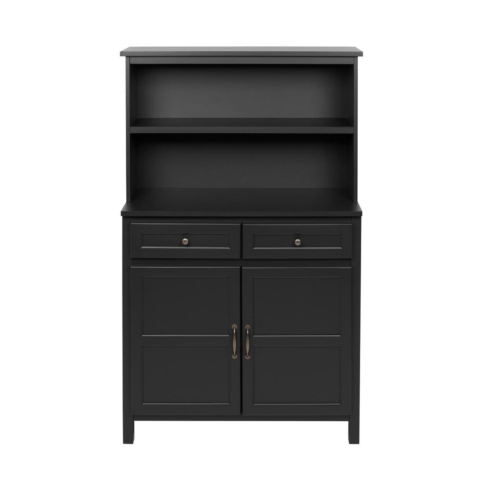 StyleWell Black Wood Transitional Kitchen Pantry (36 in. W x 58 in. H) was $259.0 now $155.4 (40.0% off)