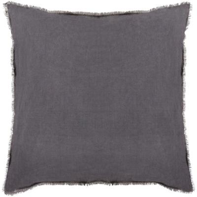 Venigovo Charcoal Solid Polyester 20 in. x 20 in. Throw Pillow