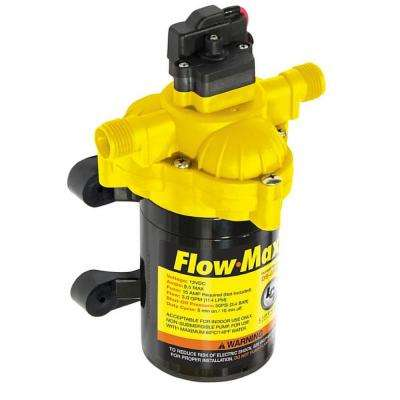 Flow-Max 3.3 GPM 12-Volt 45 PSI 8 Amp Max RV Fresh Water Pump