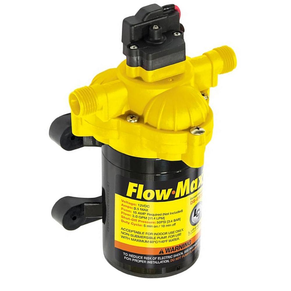 Flow-Max 3.3 GPM 12-Volt 45 PSI 8 Amp Max RV Fresh Water Pump