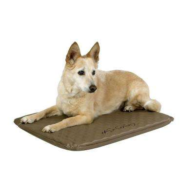 Lectro-Soft Medium Brown Outdoor Heated Dog Bed