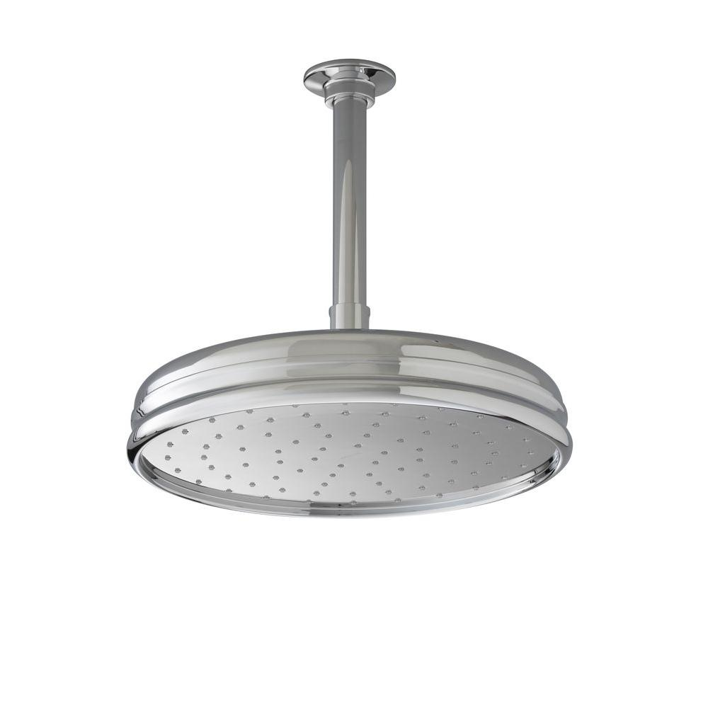 1-spray Single Function 10 in. Traditional Round Rain Showerhead in Polished