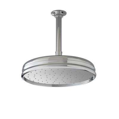 1-spray Single Function 10 in. Traditional Round Rain Showerhead in Polished Chrome