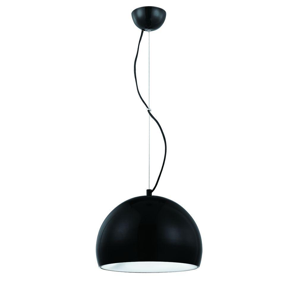 Eurofase Bollo Collection 1-Light Matte Black Pendant-DISCONTINUED