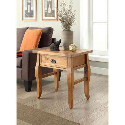 Santa Fe Antique Pine Storage End Table
