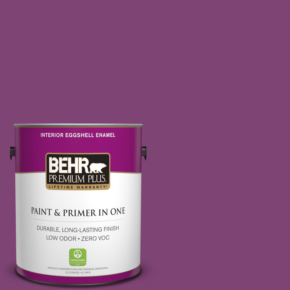 BEHR Premium Plus 1-gal. #680B-7 Sugar Plum Zero VOC Eggshell ...