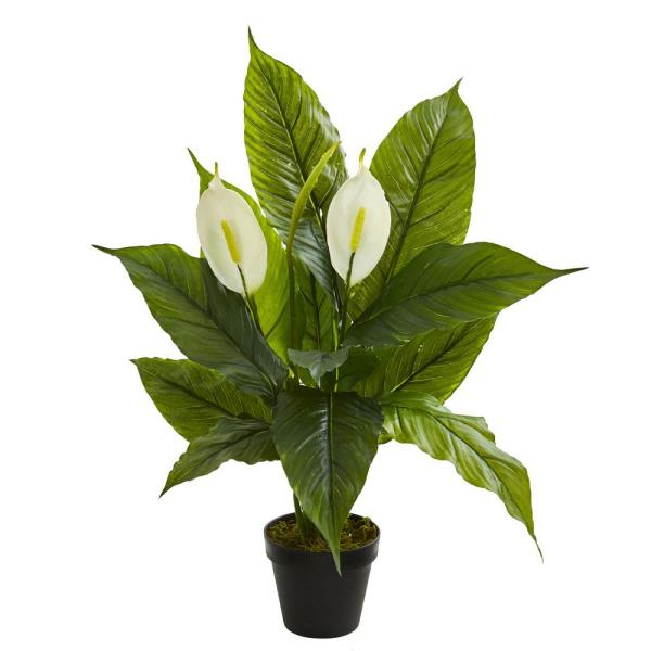 Nearly Natural Indoor 26 in. Spathiphyllum Artificial Plant