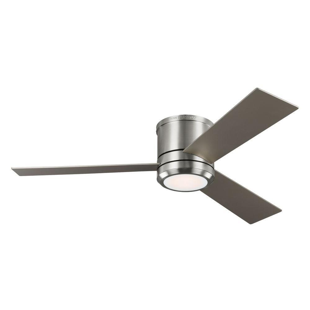 Clarity Max 56 in. Indoor/Outdoor Brushed Steel Ceiling Fan