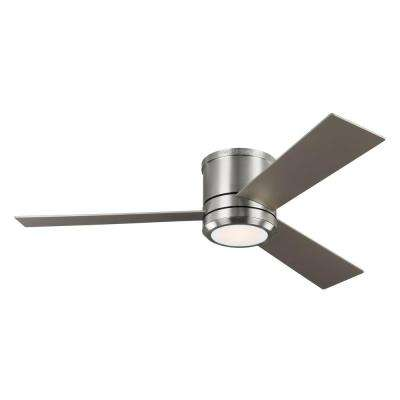 Clarity Max 56 on. LED Indoor/Outdoor Brushed Steel Ceiling Fan with Light Kit