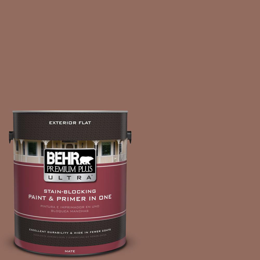 1-gal. #220F-6 Chocolate Curl Flat Exterior Paint