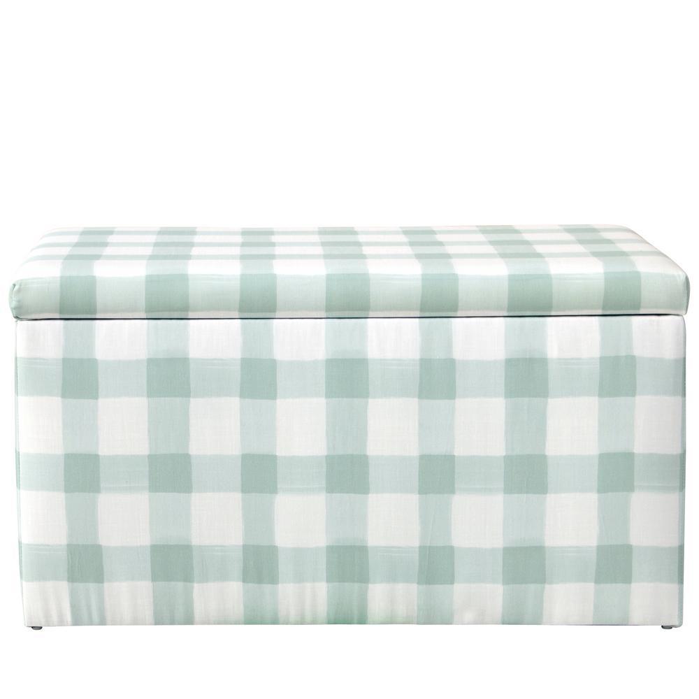 Skyline Furniture Buffalo Square Mint Storage Bench 4325STBFSQMNTOG