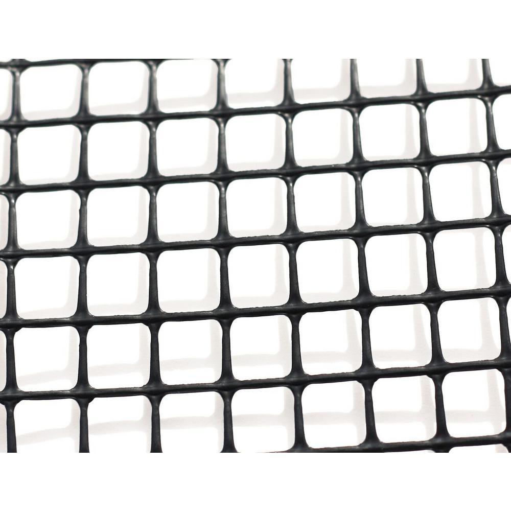 Heavy-Duty Outdoor Deck Netting 15 ft. Roll, Black