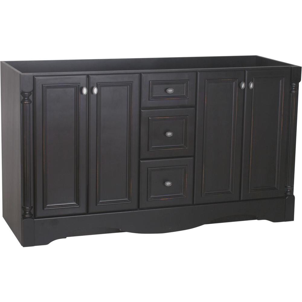 Vanity Cabinet Only In Antique Black