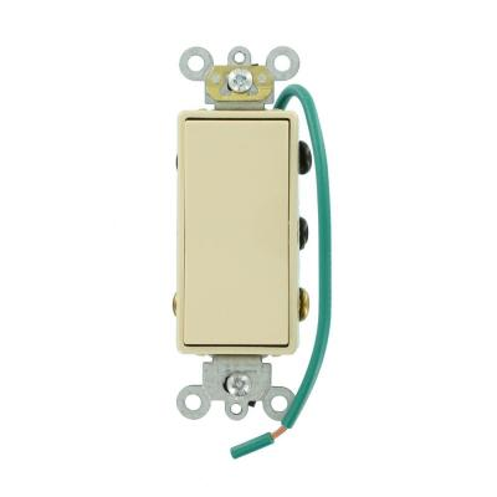 leviton decora 15 amp illuminated rocker switch, light almond r76