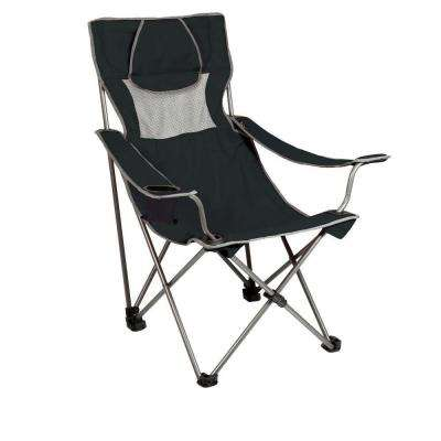Campsite Folding Camp Black and Grey Patio Chair
