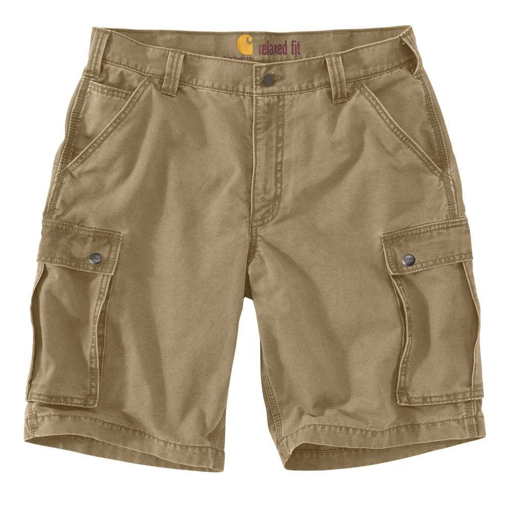 Men's Regular 31 Dark Khaki Cotton Shorts