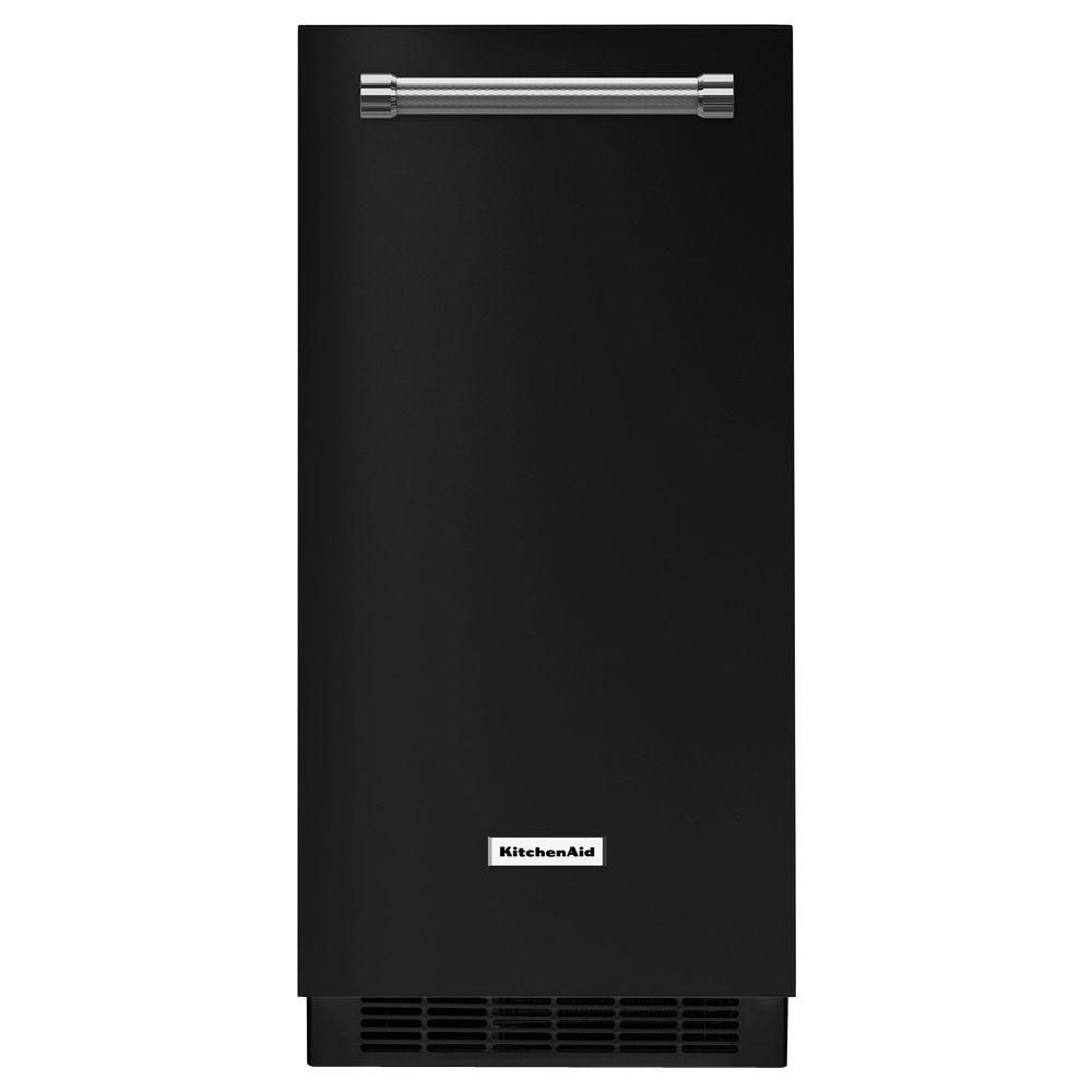 15 in. 51 lbs. Built-In or Freestanding Ice Maker in Black