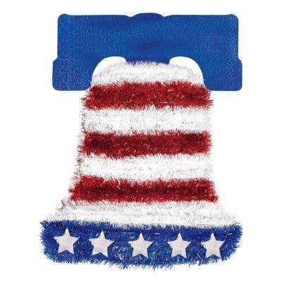 18 in. x 14 in. Patriotic Tinsel Bell Decoration (2-Pack)