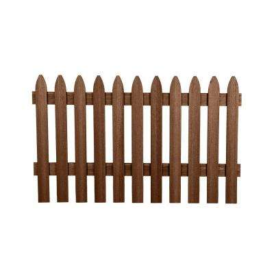 3-1/2 ft. H x 6 ft. W Jatoba Gothic Composite Fence Picket Panel