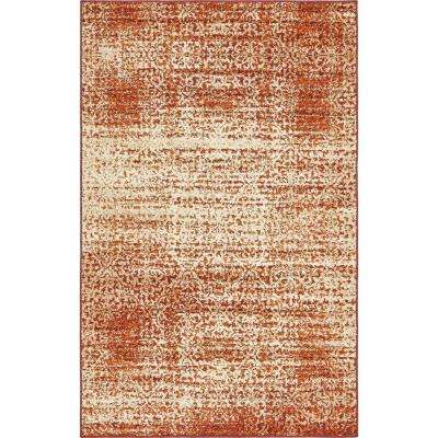 Autumn Traditions Terracotta 5' 0 x 8' 0 Area Rug