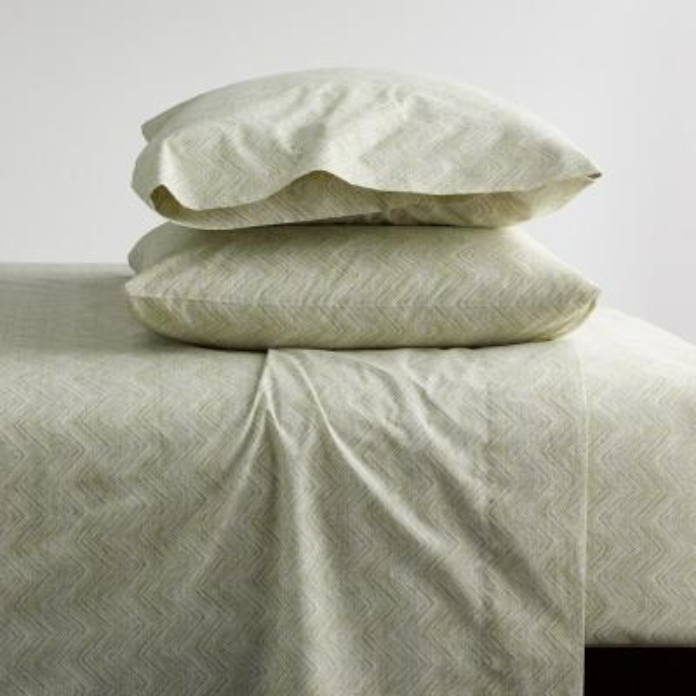 Herringbone 200-Thread Count Organic Cotton Percale Sheet Set