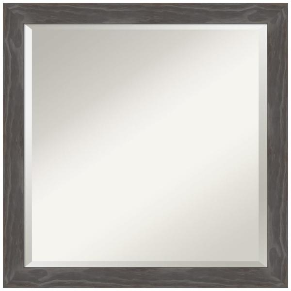 Amanti Art Woodridge Rustic Grey 22 75 In X 22 75 In Bathroom Vanity Wall Mirror Dsw4407161 The Home Depot