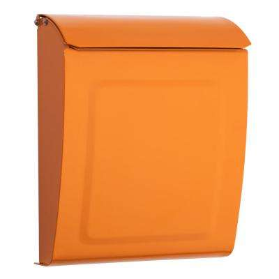 Aspen Locking Wall Mount Mailbox Orange