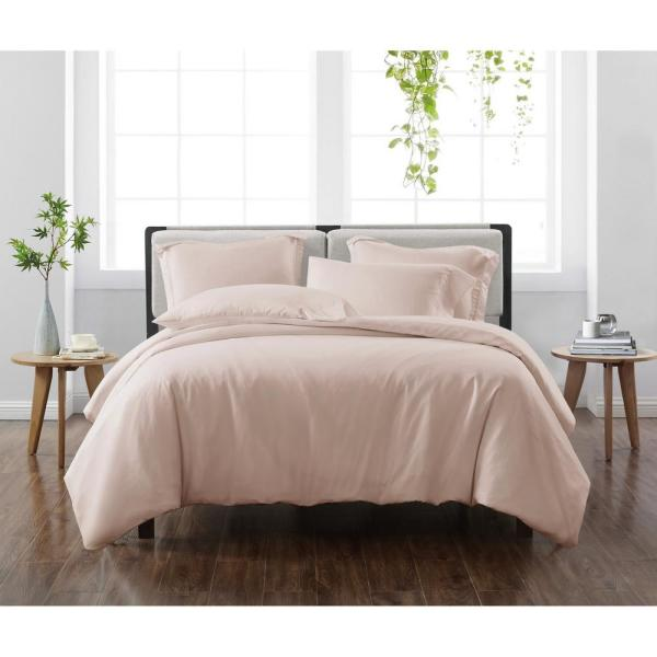 Solid Blush Twin/Twin XL 2-Piece Duvet Cover Set