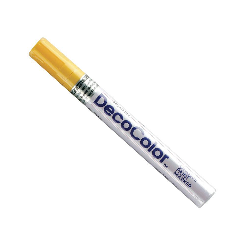Marvy Uchida DecoColor Yellow Broad Point Paint Marker