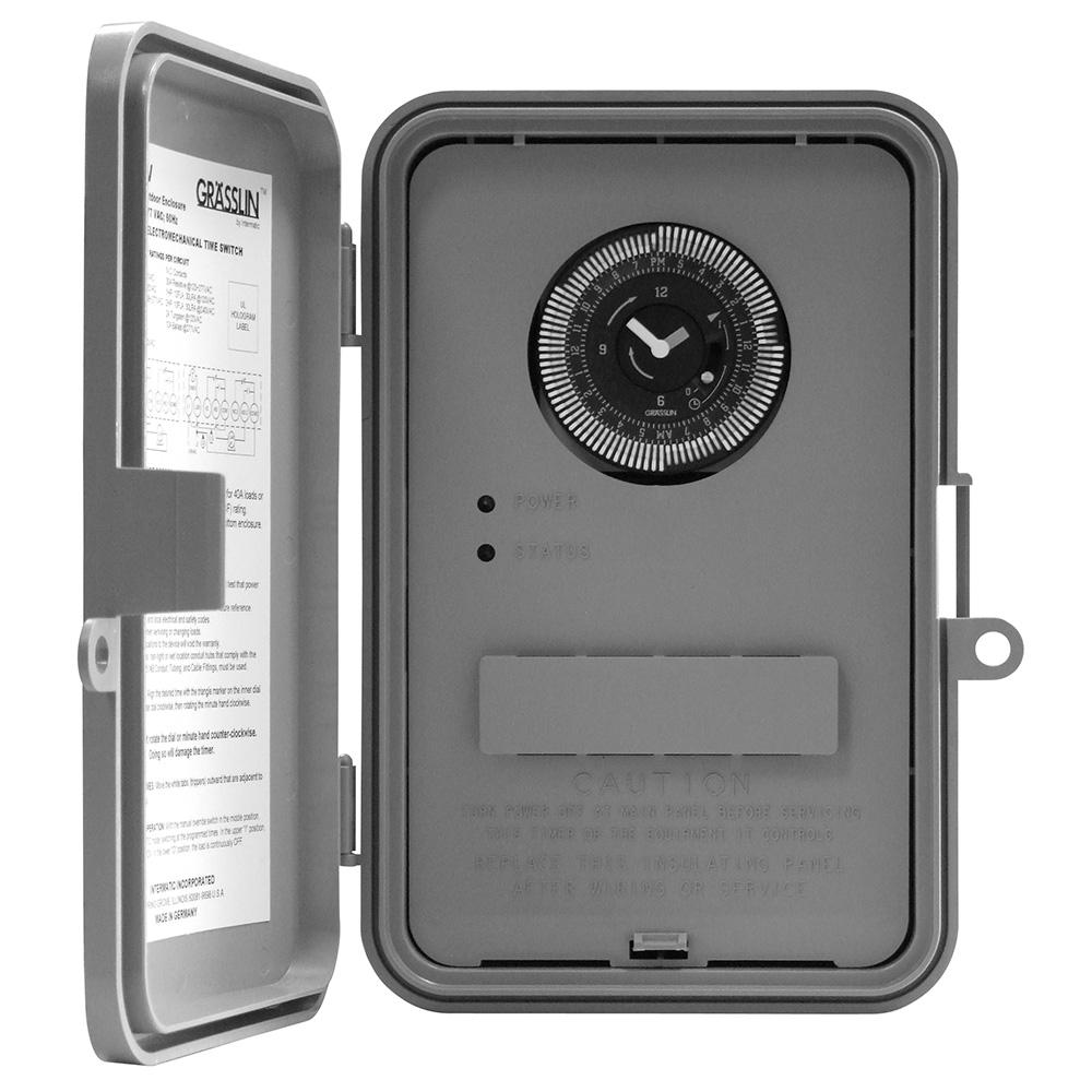 Intermatic Gm40av Series 40 Amp 24 Hour Indoor Outdoor Wall Mounted Autovoltage General Purpose Time Control Gray