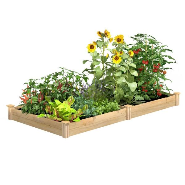 4 ft. x 8 ft. x 7 in. Original Cedar Raised Garden Bed