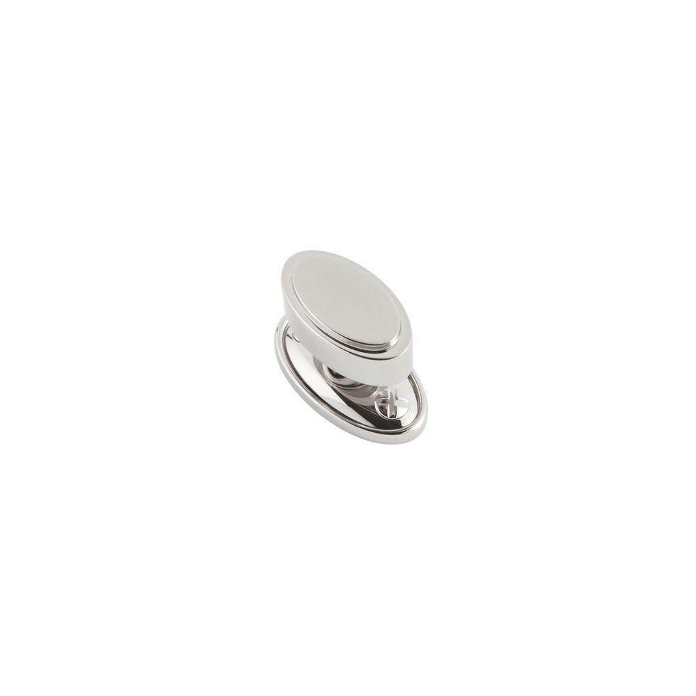 Ovaline 1.5 in. Polished Nickel Small Knob
