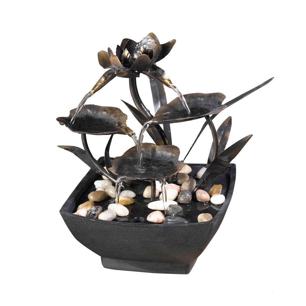 Fountain Cellar Cadono Metal Leaves Tabletop Fountain by Fountain Cellar