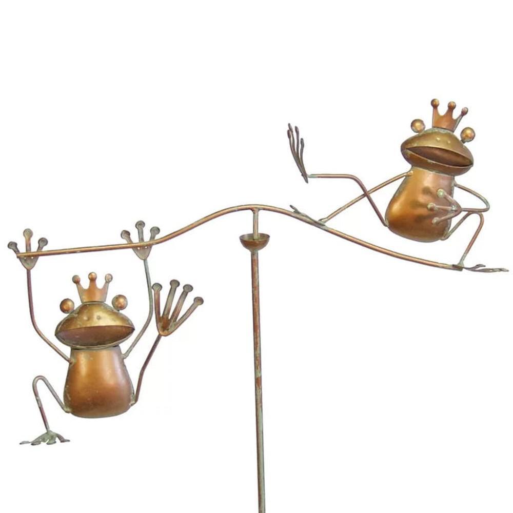 Frog Wind Balancer Garden Stake