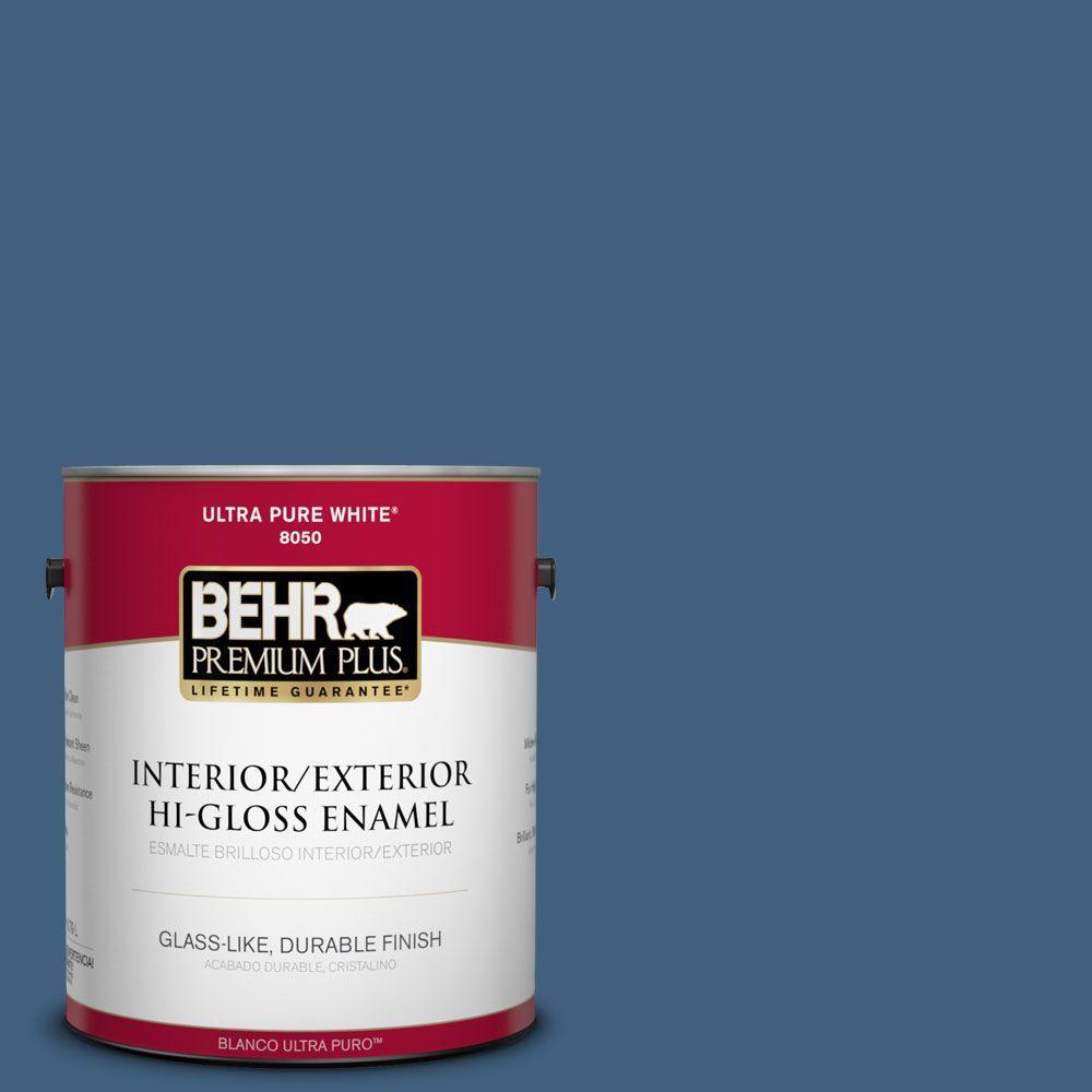 BEHR Premium Plus 1-gal. #M510-6 Tidal Hi-Gloss Enamel Interior/Exterior Paint