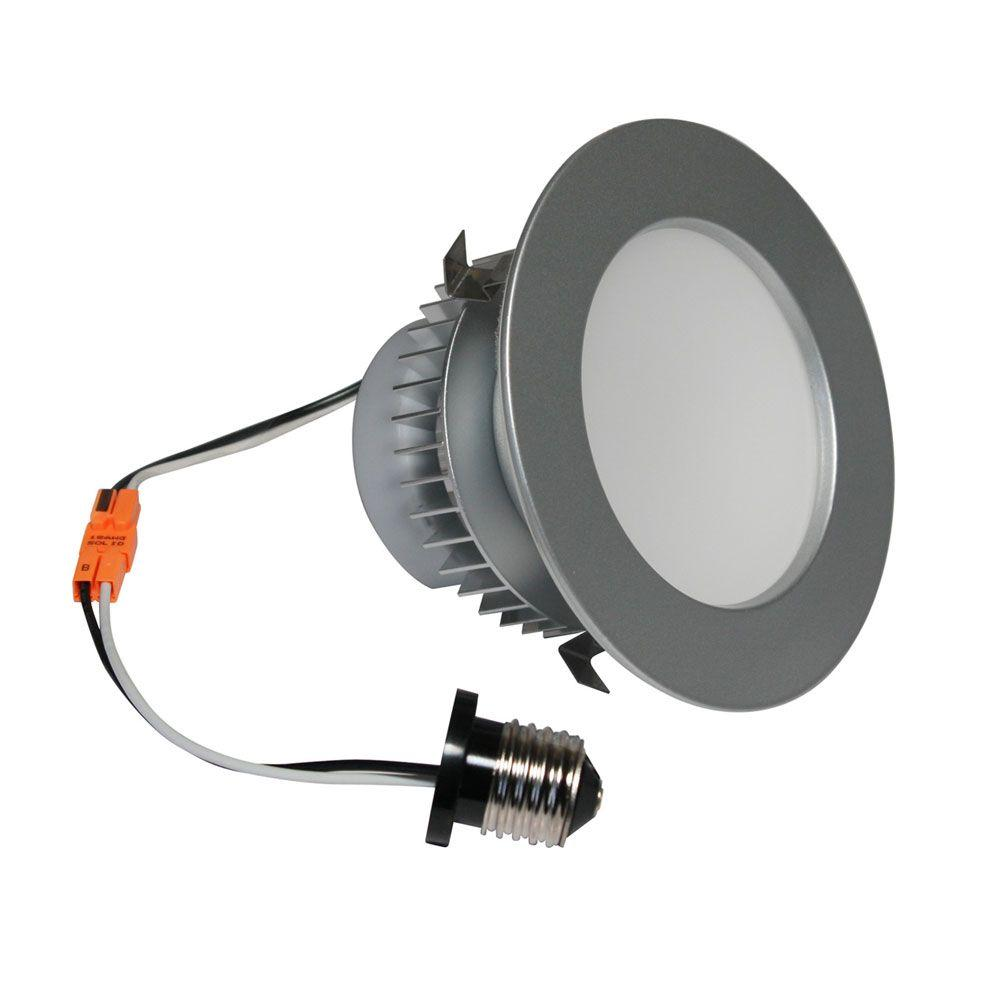 Irradiant 4 in. Brushed Steel Dimmable LED Recessed Downlight