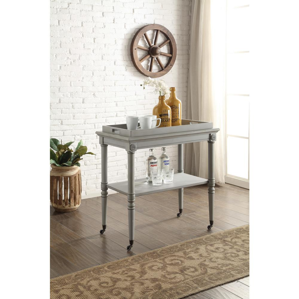 ACME Furniture Frisco Tray Table In Antique Slate