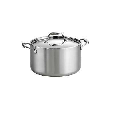 Gourmet 6 Qt. Tri-Ply Clad Sauce Pot with Lid