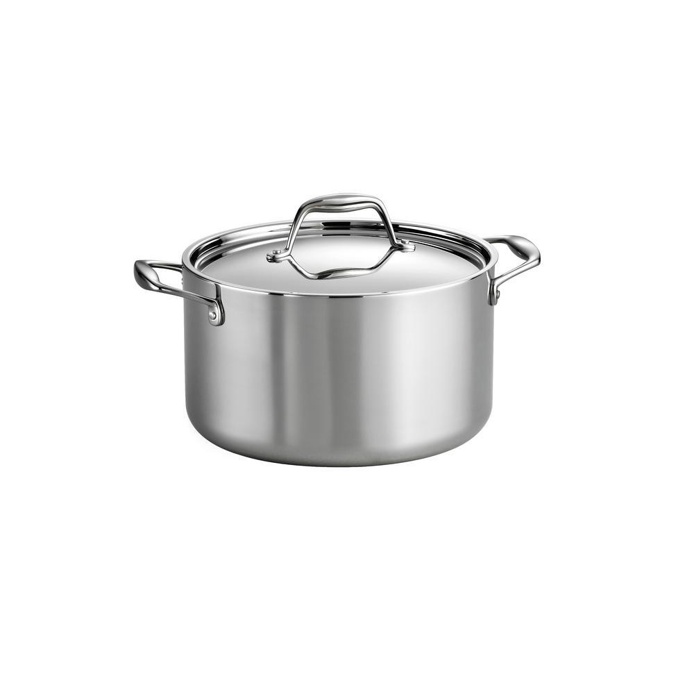 Gourmet 6 Qt. Tri-Ply Clad Sauce Pot with Lid