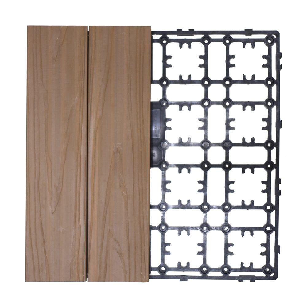 Newtechwood Deck A Floor Premium Modular Outdoor Composite Flooring System Kit Sample In