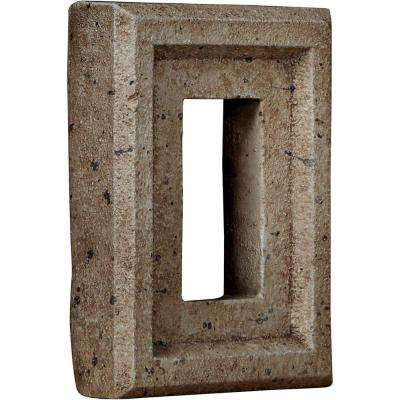 2 in. x 6-1/4 in. x 8-1/4 in. Platinum Urethane Universal Electrical Outlet for Stone and Rock Wall Panels