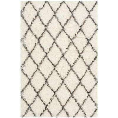 Moroccan Shag Ivory/Grey 4 ft. x 6 ft. Area Rug