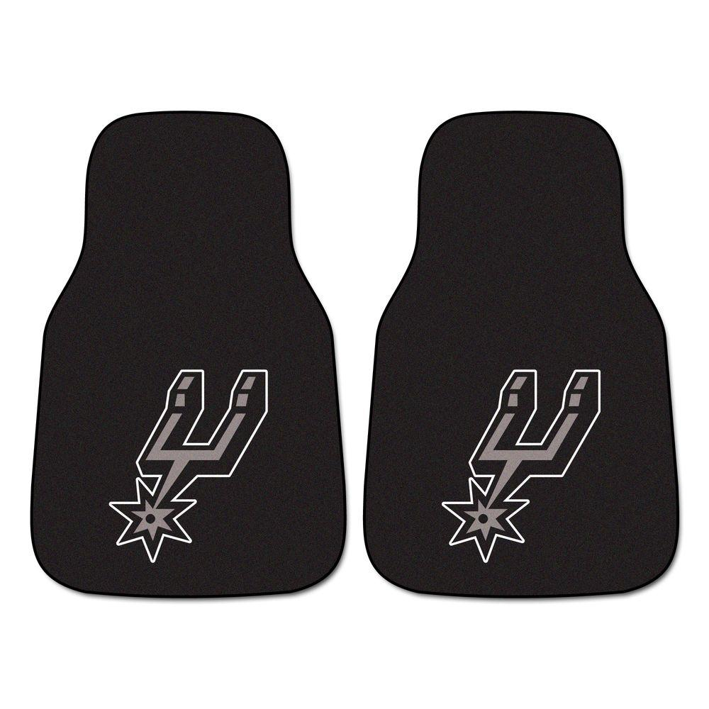 San Antonio Spurs 18 in. x 27 in. 2-Piece Carpeted Car