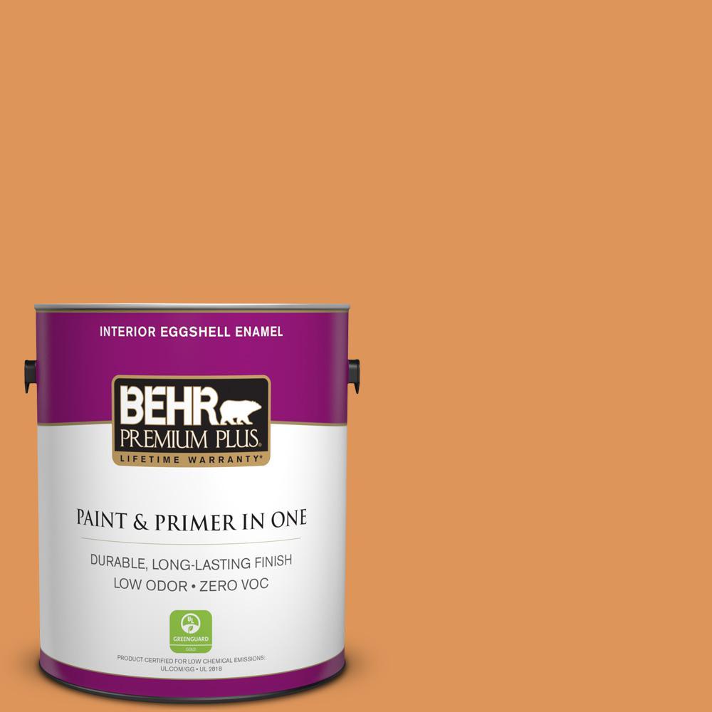 BEHR Premium Plus 1-gal. #M230-6 Amiable Orange Eggshell Enamel Interior Paint
