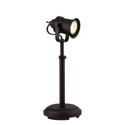 Theo 14 in. 1-Light Indoor Bronze Lamp with Cord Switch