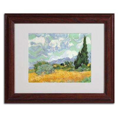 11 in. x 14 in. Wheatfield with Cypresses, 1889 Matted Framed Art