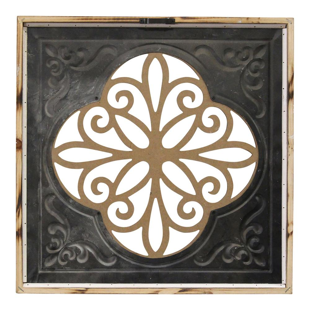 Stratton Home Dcor Flower Metal And Wood Art Deco Wall Decor Wall Sculptures Home Garden