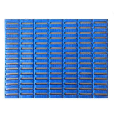 Blue 3 ft. x 33 ft. PVC Open Grid Safety and Comfort Mat